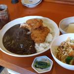 串揚げ咲と - カツカレー定食 800円