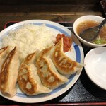 一圓 - 餃子横置きごはんL(850円)