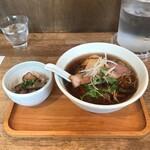 らーめんシゲトミ - らーめんセット(醤油+ミニちゃーしゅー丼)