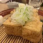 信州蕎麦の草笛 - 手作り厚揚げ800円