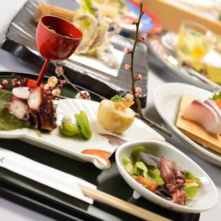 季節の旬の食材を使用した各種宴会向けコースをご用意