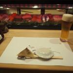 帆掛鮨 - 生ビール