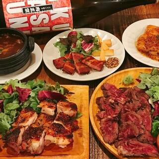 豊富な肉メニュー♪肉専用の日本酒も!