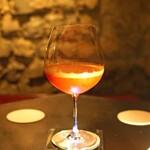 カルーソー - イチゴとシャンパンのカクテル