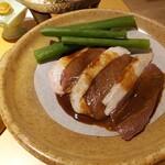京都・烟河 - 九条葱と鴨の陶板焼