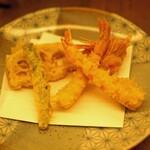 蕎麦 たじま - 巻き海老天そばの天ぷら