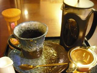 祇をん ひつじカフェ - フレンチプレスのコーヒー