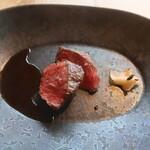 RISTORANTE&BAR EVOLTA - 常陸牛の薪焼き リンゴのアグロドルチェ