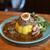 カリーショップ スパイスマン - 料理写真:あいがけキーマプレート 焦がしバジルのバターチキンカレー + 旨辛煮豚☆