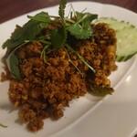 ピラブカウ - ・豚ひき肉のタイ南方地方風カレー炒め激辛 580円