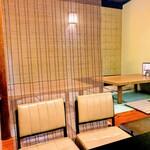 いけ田 - 奥の座敷席