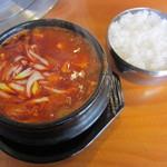 王家 - 純豆腐チゲ定食(\600-)