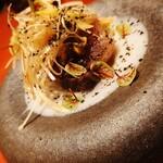 126283268 - 千葉九十九里浜産、蛤と原木シイタケ、菜の花のアーリオオーリオペペロンチーノ