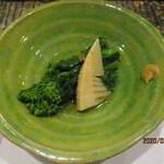 Yakitoriwashokutoriyakotobukinakameguro - 筍と菜の花のおひたし