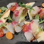 真鯛と筍のカルパッチョ
