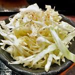 どんぶりブッチャー - 「ぶたみそ丼 & 冷麺 セット」の千切りキャベツ(塩ダレ)(2012年4月)