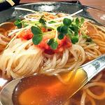 どんぶりブッチャー - 「ぶたみそ丼 & 冷麺 セット」の冷麺(2012年4月)