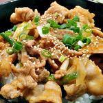 どんぶりブッチャー - 「ぶたみそ丼(大盛り)& 冷麺 セット」のぶたみそ丼(大盛り)(2012年4月)