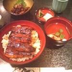 うなぎ料理 あつみ - うな丼(肝吸い付)と肝焼き