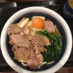 丸亀製麺 - 鴨すき焼きうどん 得盛