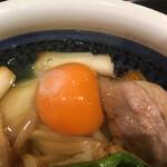 丸亀製麺 - 生玉子とネギ