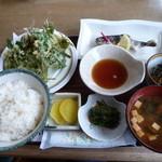 寿恵広食堂 - 山菜定食 1500円