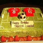 フットボール セルヴェセリア オンセ - 大切な記念日にリクエストにお応えする世界に一つだけのオリジナルデザインケーキで盛り上ること間違いなし