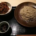 手打蕎麦 あすなろ - ◆冬のかき揚げ天丼と蕎麦 もり蕎麦(冷たいお蕎麦)◆♪