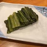 もみじ茶屋 - 野沢菜漬け 400円(税抜)