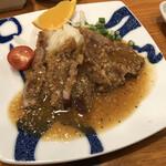 もみじ茶屋 - 立科高原豚・味噌トンテキ 880円(税抜)