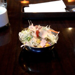 viva goa indian cafe - セットのサラダ