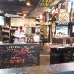 韓国料理 サムギョプサル どやじ - 壁に落書き