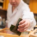 鮨処 多田 - 山芋の梅漬け