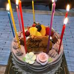 おぎ野亭 - 料理写真:バースデーケーキ