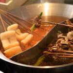 本場四川串鍋 牛華八婆 - 料理写真:伝統極旨スープと美肌トマトスープ