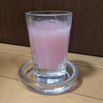 稲花酒造 - ドリンク写真:桃色にごり酒