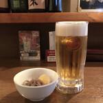 プロレス居酒屋 がむしゃら - 生ビールとお通し
