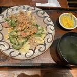 島ぬ風 - 2020年2月23日  ゴーヤチャンプル定食(ライス無し 同値段)1,050円