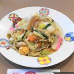 江山楼 - 特上皿うどん(太麺)1500円