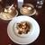 チャイナワン - 料理写真:小籠包、海老餃子、海老と茄子の天ぷらみたいのを炒めたもの、花巻(蒸しパン)