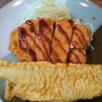 一膳屋 わ - 料理写真:サバの天ぷら&チキンカツ