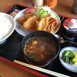 金屋食堂 - 料理写真:魚フライ定食