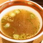 ラーメンハウス 喜楽園 - 炒飯に付くスープ
