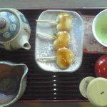 1264811 - 両棒餅と知覧茶のセット
