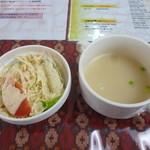 12640499 - サラダ、スープ