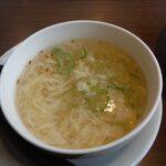 味の時計台 - あんかけに付く玉子スープ