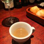 TRATTORIA GANZO - お通し マッシュルームのスープ