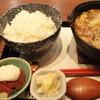 がんばる君 - 料理写真:20食限定の牛もつ野菜鉄鍋定食(A定食、900円)