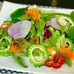 島野菜のグリーンサラダ 青じそドレッシング