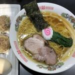 超純水採麺 天国屋 - 2020/2/29限定・ザ・ラーメン 焼売セット(900円)
